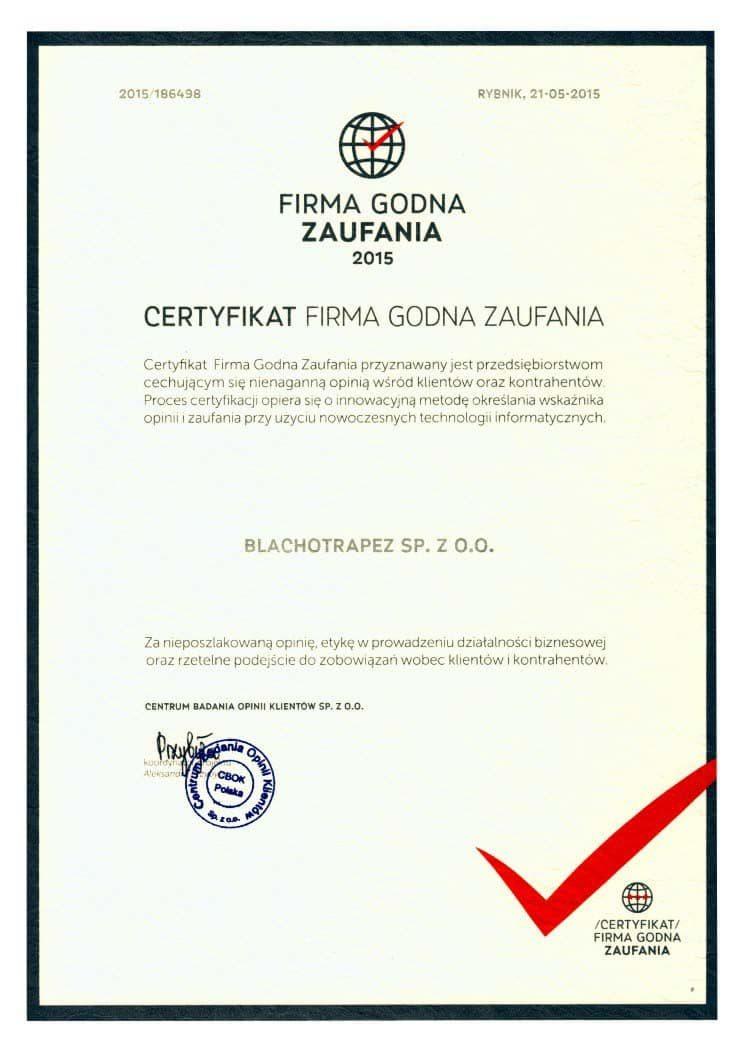 Firma-Godna-Zaufania-Blachotrapez-2015